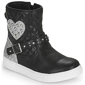Schuhe Mädchen Boots Primigi B&G LUX Schwarz / Silbern