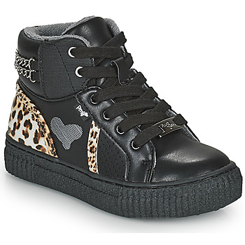 Schuhe Mädchen Sneaker High Primigi GIRL ALPHA Schwarz / Leopard