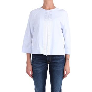 Kleidung Damen Sweatshirts Anna Seravalli S1125 Mit Reißverschluss Damen Weiß Weiß