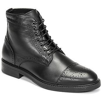 Schuhe Herren Boots Selected BROGUE Schwarz