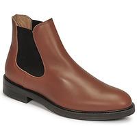 Schuhe Herren Boots Selected CHELSEA Cognac