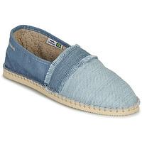 Schuhe Leinen-Pantoletten mit gefloch Havaianas ESPADRILLE FUR Blau