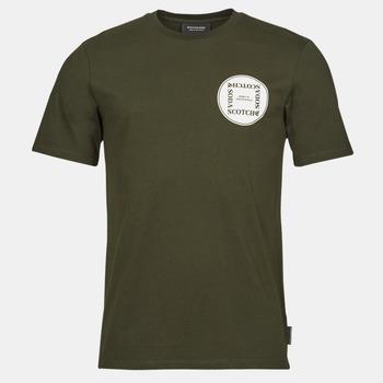Kleidung Herren T-Shirts Scotch & Soda GRAPHIC LOGO T-SHIRT Khaki