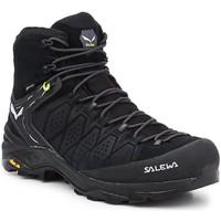 Schuhe Herren Wanderschuhe Salewa Hikingschuhe  MS Alp Trainer 2 Mid GTX 61382-0971 schwarz
