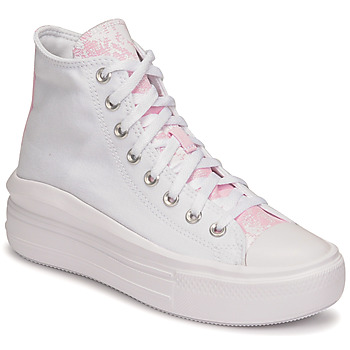 Schuhe Damen Sneaker High Converse CHUCK TAYLOR ALL STAR MOVE HYBRID FLORAL HI Weiss