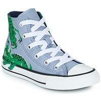 Schuhe Kinder Sneaker High Converse CHUCK TAYLOR ALL STAR DINO DAZE HI Blau / Grün