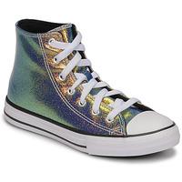 Schuhe Mädchen Sneaker High Converse CHUCK TAYLOR ALL STAR IRIDESCENT GLITTER HI Silbern