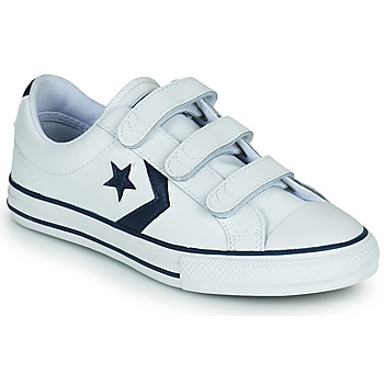 Schuhe Kinder Sneaker Low Converse STAR PLAYER 3V BACK TO SCHOOL OX Weiss / Blau