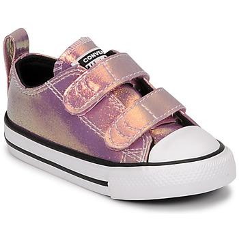 Schuhe Mädchen Sneaker Low Converse CHUCK TAYLOR ALL STAR 2V IRIDESCENT GLITTER OX Rose