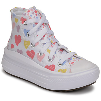 Schuhe Mädchen Sneaker High Converse CHUCK TAYLOR ALL STAR MOVE ALWAYS ON HEARTS HI Weiss / Multicolor