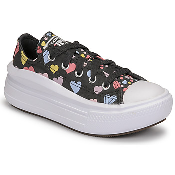 Schuhe Mädchen Sneaker Low Converse CHUCK TAYLOR ALL STAR MOVE ALWAYS ON HEARTS OX Schwarz / Multicolor