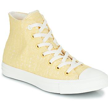 Schuhe Damen Sneaker High Converse CHUCK TAYLOR ALL STAR HYBRID TEXTURE HI Gelb