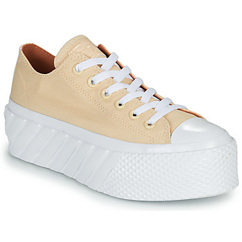 Schuhe Damen Sneaker Low Converse CHUCK TAYLOR ALL STAR LIFT 2X HYBRID SHINE OX Gelb