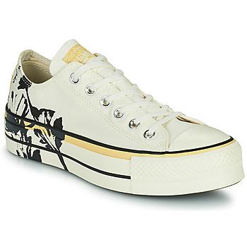 Schuhe Damen Sneaker Low Converse CHUCK TAYLOR ALL STAR LIFT HYBRID FLORAL OX Weiss