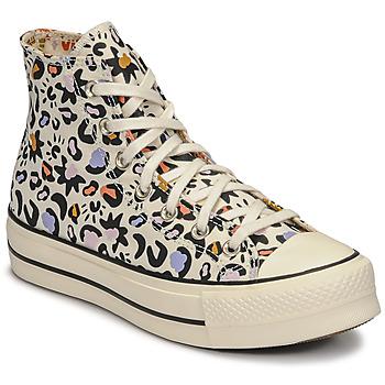 Schuhe Damen Sneaker High Converse CHUCK TAYLOR ALL STAR LIFT MYSTIC WORLD HI Weiss / Multicolor