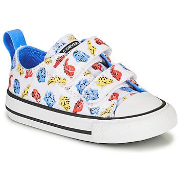 Schuhe Kinder Sneaker Low Converse CHUCK TAYLOR ALL STAR 2V DINO DAZE OX Weiss / Grün / Orange