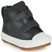 Schuhe Kinder Sneaker High Converse CHUCK TAYLOR ALL STAR BERKSHIRE BOOT SEASONAL LEATHER HI Schwarz