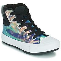 Schuhe Mädchen Sneaker High Converse CHUCK TAYLOR ALL STAR BERKSHIRE BOOT IRIDESCENT LEATHER HI Schwarz / Leuchtend