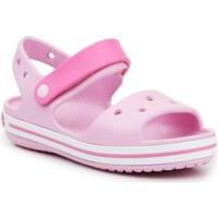 Schuhe Mädchen Sandalen / Sandaletten Crocs Crocband Sandal Kids12856-6GD rosa
