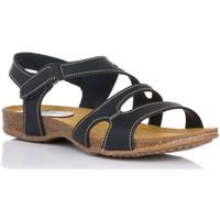 Schuhe Damen Sandalen / Sandaletten Interbios 4441 Schwarz