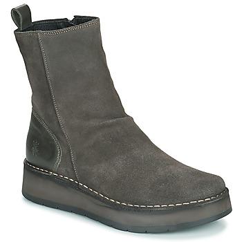 Schuhe Damen Boots Fly London RENO Grau