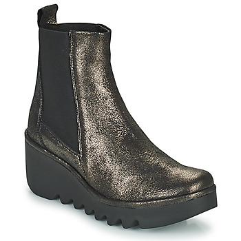 Schuhe Damen Low Boots Fly London BAGU Grau / Gold