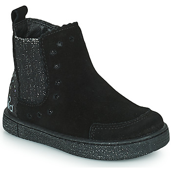 Schuhe Mädchen Boots Mod'8 BLANOU Schwarz / Glitterfarbe