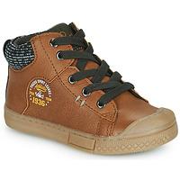 Schuhe Jungen Sneaker High Mod'8 HERMIAN Cognac