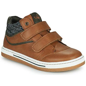 Schuhe Jungen Sneaker High Mod'8 KYNATOL Cognac