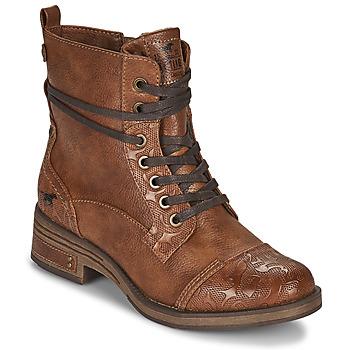 Schuhe Damen Boots Mustang 1293501 Braun