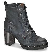 Schuhe Damen Low Boots Mustang 1336502 Marine