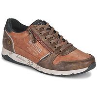 Schuhe Herren Sneaker Low Mustang BRICA Braun