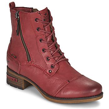 Schuhe Damen Boots Mustang 1229513 Rot