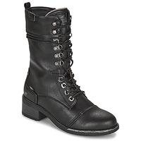 Schuhe Damen Klassische Stiefel Mustang 1402501 Schwarz