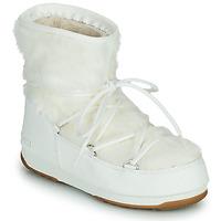 Schuhe Damen Schneestiefel Moon Boot MOON BOOT MONACO LOW FUR WP 2 Weiss