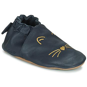 Schuhe Mädchen Babyschuhe Robeez GOLDY CAT Marine