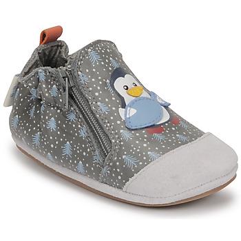 Schuhe Jungen Babyschuhe Robeez BLUE PINGUINS Grau