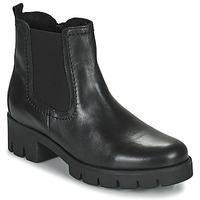 Schuhe Damen Low Boots Gabor 7171027 Schwarz