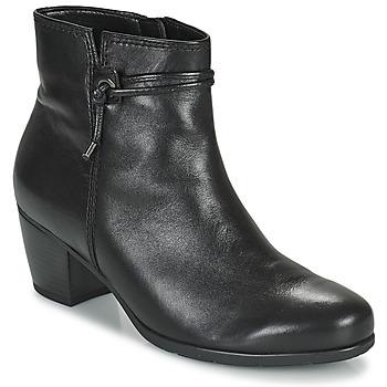 Schuhe Damen Low Boots Gabor 7552227 Schwarz
