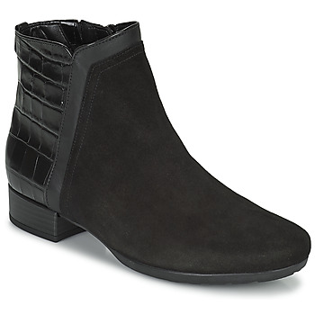 Schuhe Damen Low Boots Gabor 7271227 Schwarz