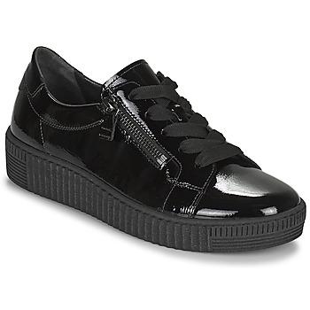 Schuhe Damen Sneaker Low Gabor 7333497 Schwarz