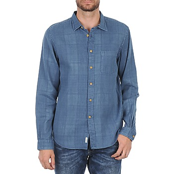 Kleidung Herren Langärmelige Hemden Façonnable JJMCT502000ERE Blau