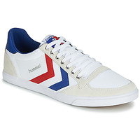 Schuhe Sneaker Low Hummel TEN STAR LOW CANVAS Weiss / Rot / Blau
