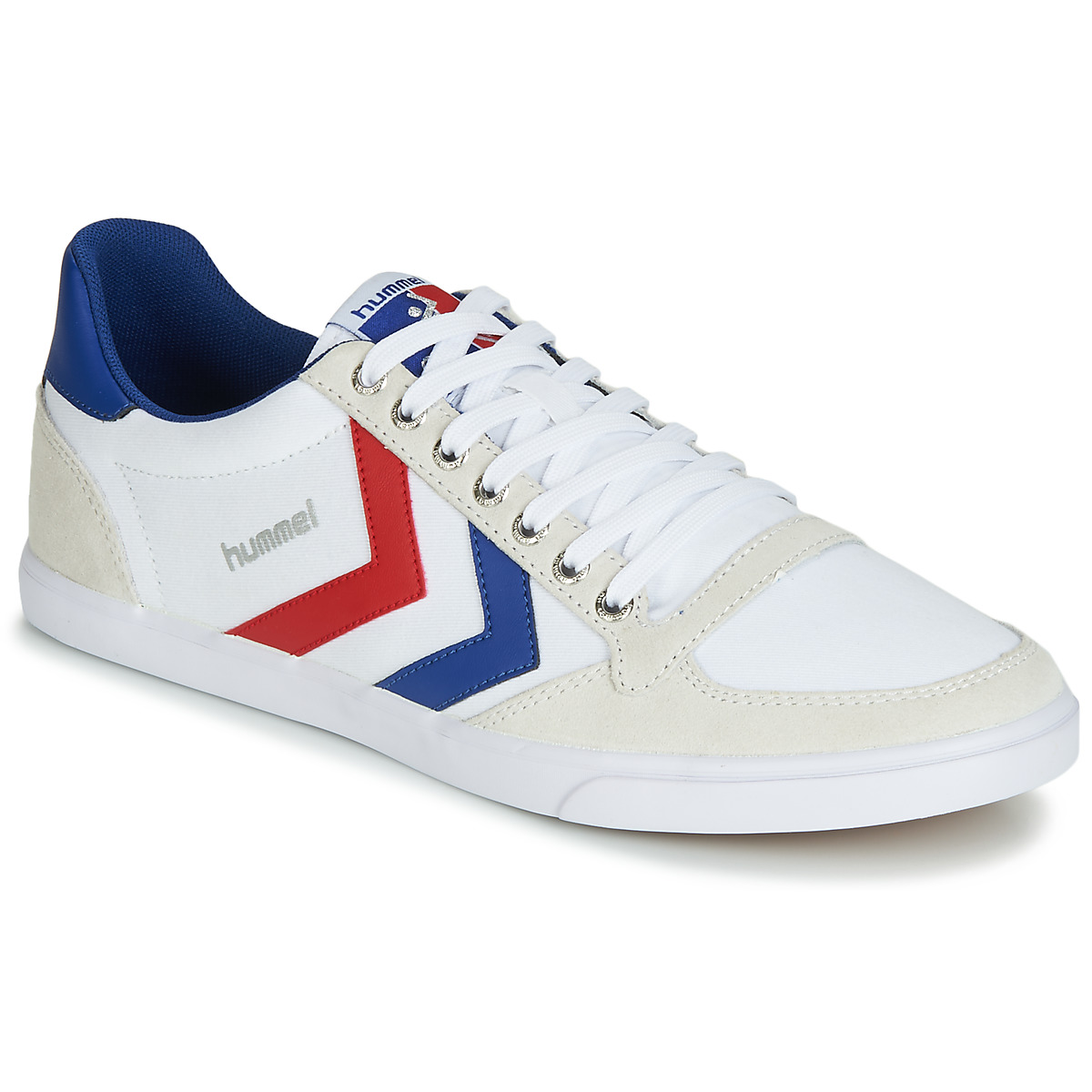 Hummel TEN STAR LOW CANVAS Weiss / Rot / Blau
