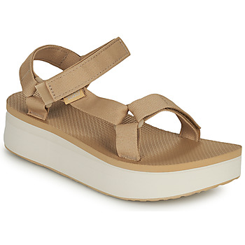 Schuhe Damen Sandalen / Sandaletten Teva Flatform Universal Beige / Weiss