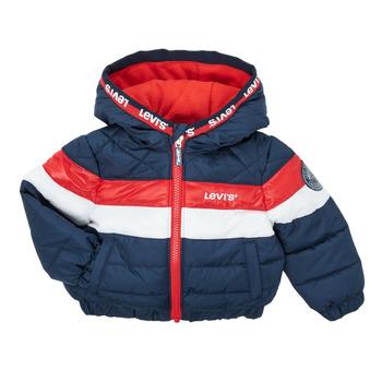 Kleidung Jungen Daunenjacken Levi's COLORBLOCK JACKET Marine / Weiss / Rot