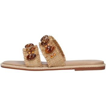 Schuhe Damen Pantoffel Alma Blue V21BL9001 BEIGE