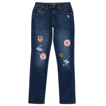 Kleidung Jungen Slim Fit Jeans Guess CLASMI Blau