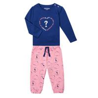 Kleidung Mädchen Kleider & Outfits Guess ANISSA Rose / Blau
