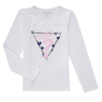 Kleidung Mädchen Langarmshirts Guess MONICA Weiss